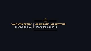 CV Marketeur Graphiste - Valentin Serry