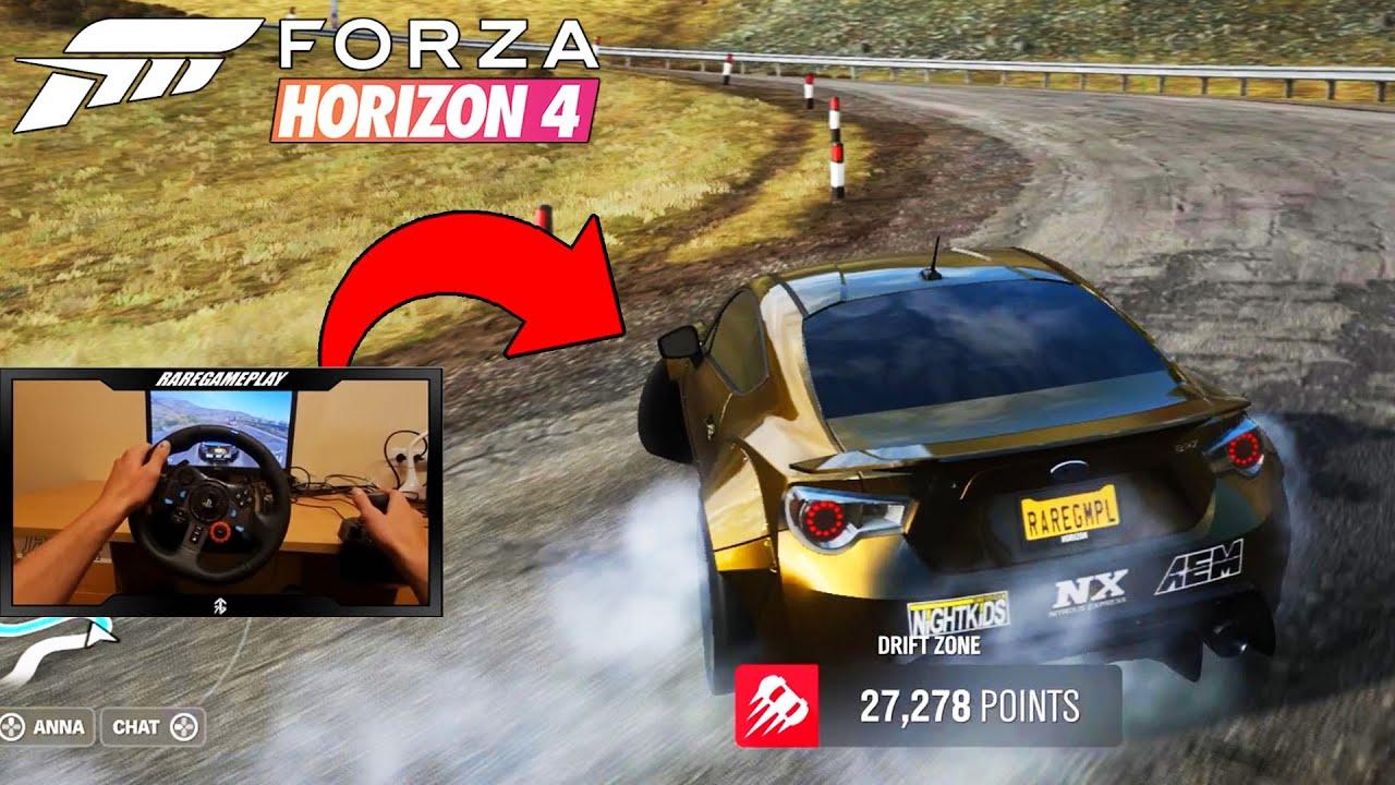 Forza Horizon 4 - Subaru BRZ Fortune Island Drift W/ Steering Wheel (Logitech G27)