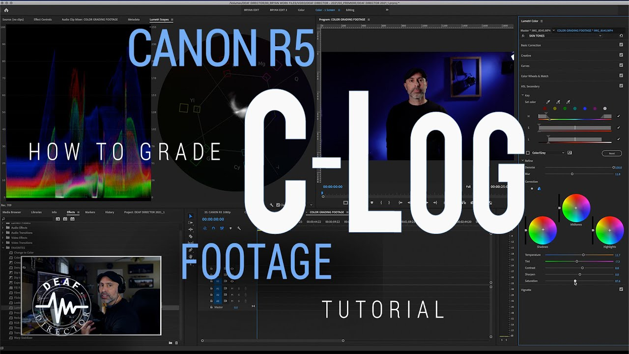 CANON R5: CLOG COLOR GRADING TUTORIAL