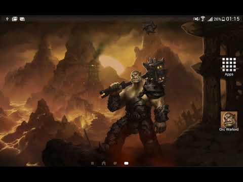 Orc Warlord Fantasy Live Wallpaper Hd Lwp Theme Apps On Google Play
