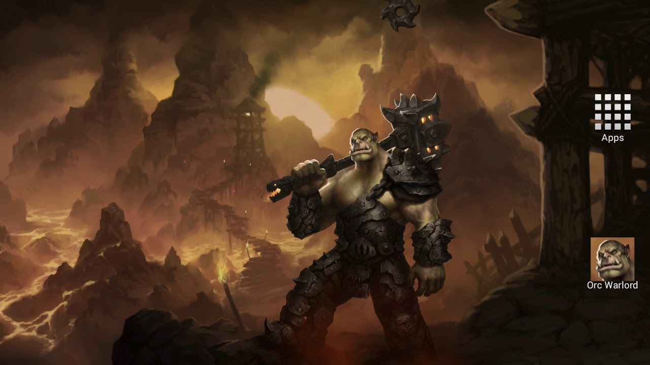 Orc Warlord Fantasy Hd Android Live Wallpaper By Anvilgard Youtube