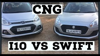 I10 CNG  VS SWIFT CNG | AUTOMATION INDIA | space , average, pickup????