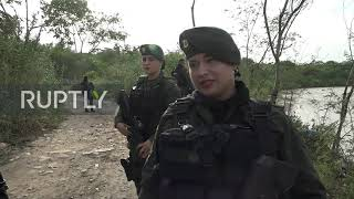 Colombia: Special police unit patrolling the border with Venezuela