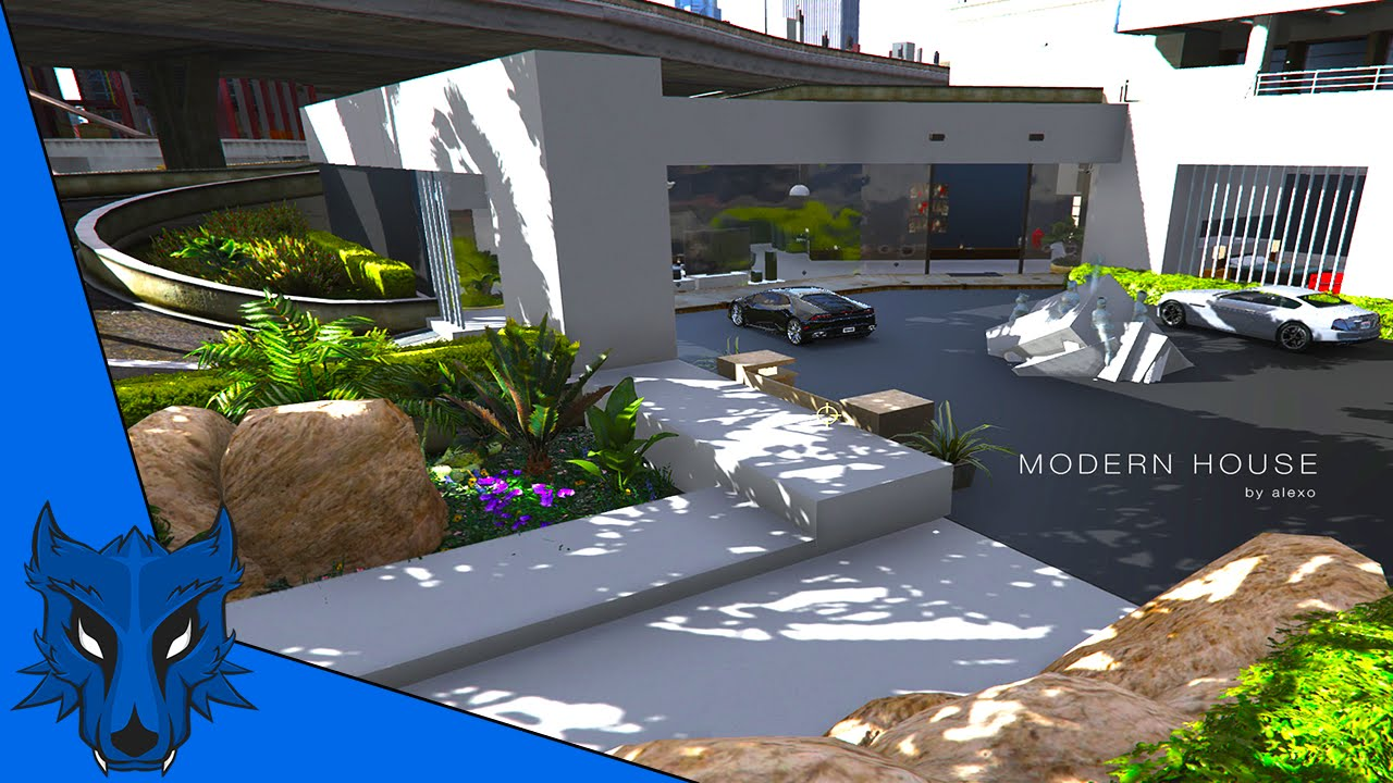 une maison tres moderne styl dans le centre ville gta v mod 6 youtube. Black Bedroom Furniture Sets. Home Design Ideas