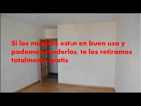 retirada de muebles gratis madrid youtube