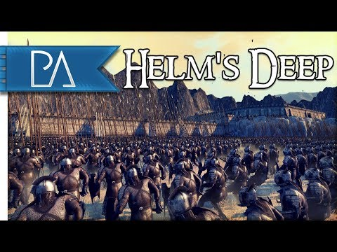 SIEGE OF HELM'S DEEP: NEW CUSTOM MAP - Total War: Rise of Mordor Mod Gameplay