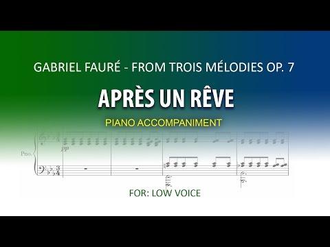 Après un Rêve / Karaoke piano / Gabriel Fauré / LOW VOICE