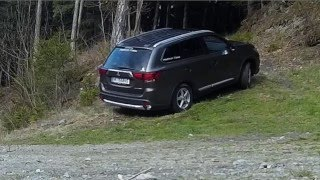 Mitsubishi Outlander 2016 diagonal / roller test and S-AWC explained