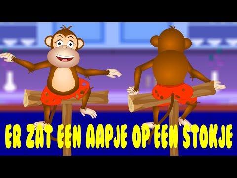 Nederlandse Kinderliedjes | Er zat een aapje op een stokje etc.