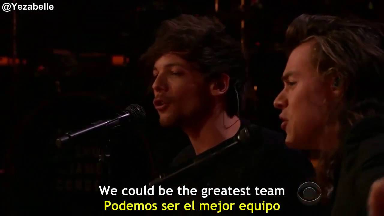 One Direction - History (The Late Late Show with James Corden) [Lyrics + Sub Español]