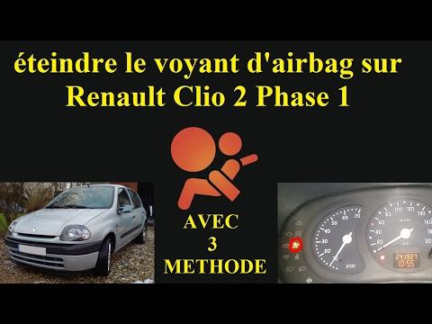 Eteindre Le Voyant D Airbags Renault Clio 2 Tutoriel Youtube