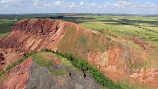 Старокамышинск 2017, террикон шахты &quot;Комсомольская&quot; с высоты птичьего полета.<