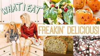 WHAT I EAT IN A DAY | EASY FALL RECIPES | MOM VLOG | Love Meg