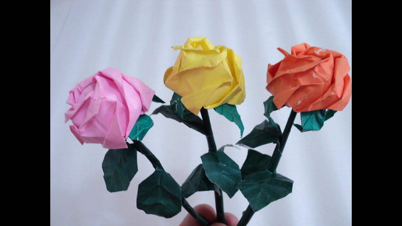passo a passo  o dobrar a rosa de origami kawasaky   youtube
