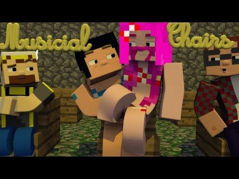 Minecraft Musical Chairs! With  Gizzy Gazza, MunchingBrotato, and Prezleek