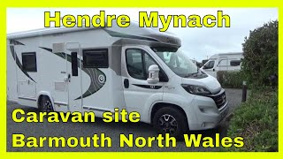 Arriving at HENDRA MYNACH Caravan site, BARMOUTH, NORTH WALES