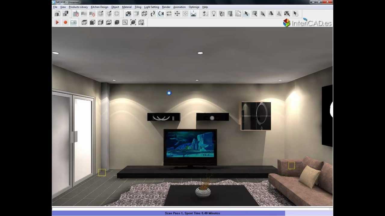 Demostraci n intericad t5 desde modelado a 3d youtube for Habitaciones 3d gratis