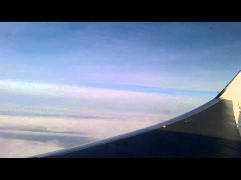 AeroSvit flight high above the skies plane POV