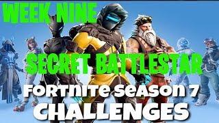 Fortnite Battle Royale | Season 7 Week 9 Challenge | Snowfall Secret Battlestar Location Guide