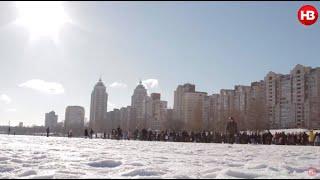 Как в Киеве отмечали Крещение