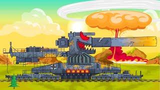 Super tank VS Monsters full movie. Monster Trucks Cartoon. World of tanks cartoon. Xe tăng. รถถัง