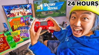 Playing FORTNITE for 24 HOURS! | EP. 4 ($100)
