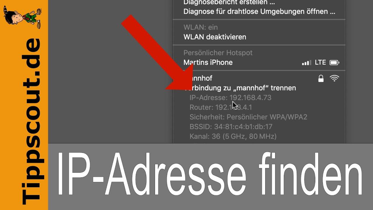 IP Adresse herausfinden auf dem Mac [SCHNELL] - YouTube