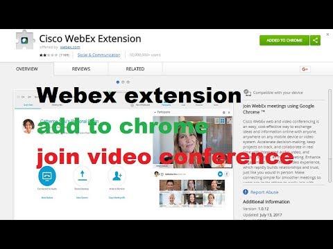 Webex Chrome Extension