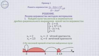Алгебра 9 Метод интервалов в решении дробно рациональных неравенств