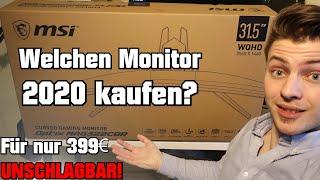 Welchen Monitor 2020 kaufen? MSI Optix MAG322CQR UNSCHLAGBAR!