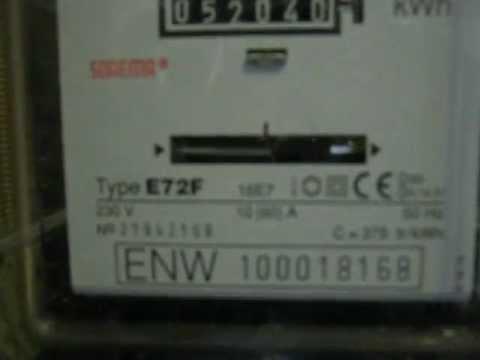 magneet op elektriciteitsmeter