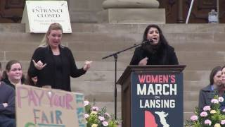 Women's March on Lansing - Dr. Farha Abbasi