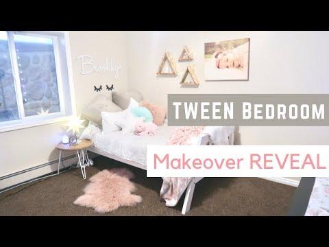 TWEEN BEDROOM MAKEOVER 🎉 Happy Birthday Brooklyn (Girls Bedroom Reveal)