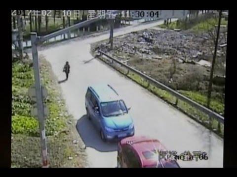 Driver breaks traffic camera with slingshot | China - Shanghai