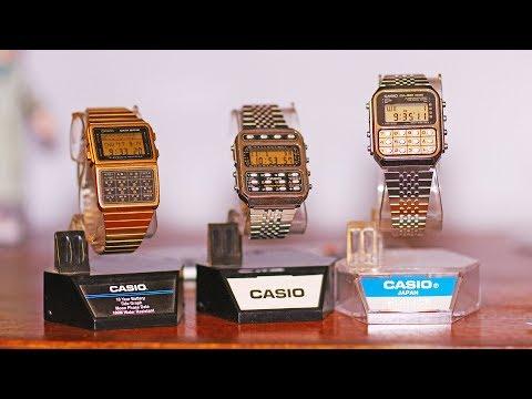 1980's Casio Calculator watches CA851 CFX200 DBC620