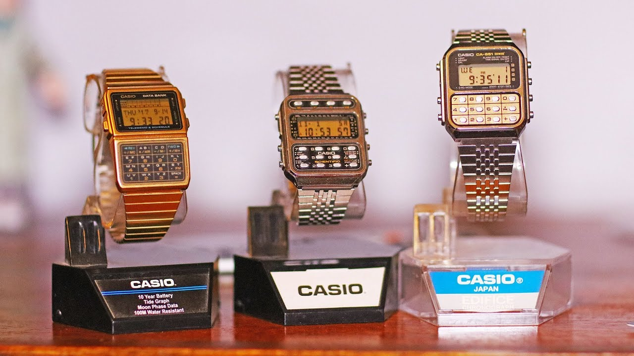 1980 S Casio Calculator Watches Ca 851 Cfx 200 Dbc 620 Youtube