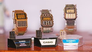 1980's Casio Calculator watches CA-851 CFX-200 DBC-620