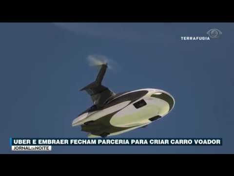 Uber E Embraer Fecham Parceira Para Criar Carro Voador