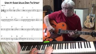 When My Sugar Walks Down The Street _Jazz guitar & piano cover - Yvan Jacques