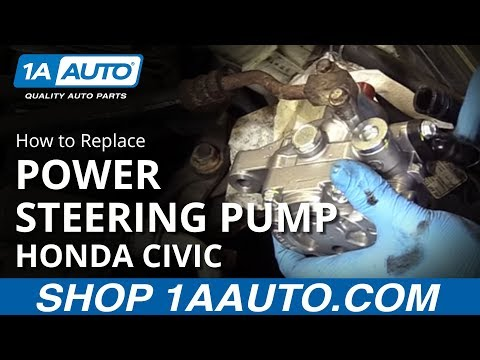 How to Remove Install Power Steering Pump 2001-05 Honda Civic