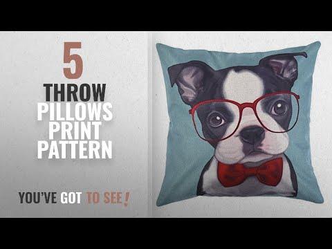 Top 10 Throw Pillows Print Pattern [2018]: Uarter Cute Decorative Throw Pillow Case Adorable Throw