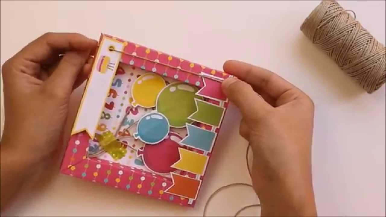 Diy tarjeta de cumplea os f cil c mo hacer una - Como hacer una felicitacion de navidad original ...