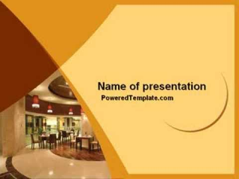 Hotel Restaurant PowerPoint Template by PoweredTemplate - YouTube