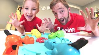 Father & Son PLAY HUNGRY HUNGRY HIPPO!