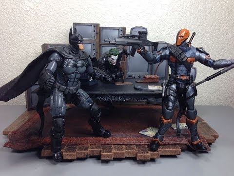 Batman Arkham Origins Batman & Deathstroke Batman Unlimited Video Game Action Figure Review