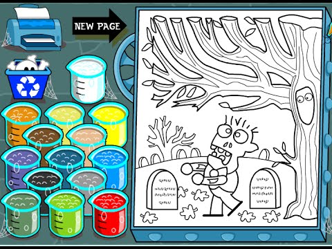 Zombie Coloring Pages For Kids Zombie Coloring Pages Youtube