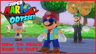 Super Mario Odyssey | How to Reach The Highest Rank In Luigi's Balloon World Fast