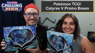 Pokémon Chilling Reign Ice Rider and Shadow Rider Calyrex V Promotional Boxes