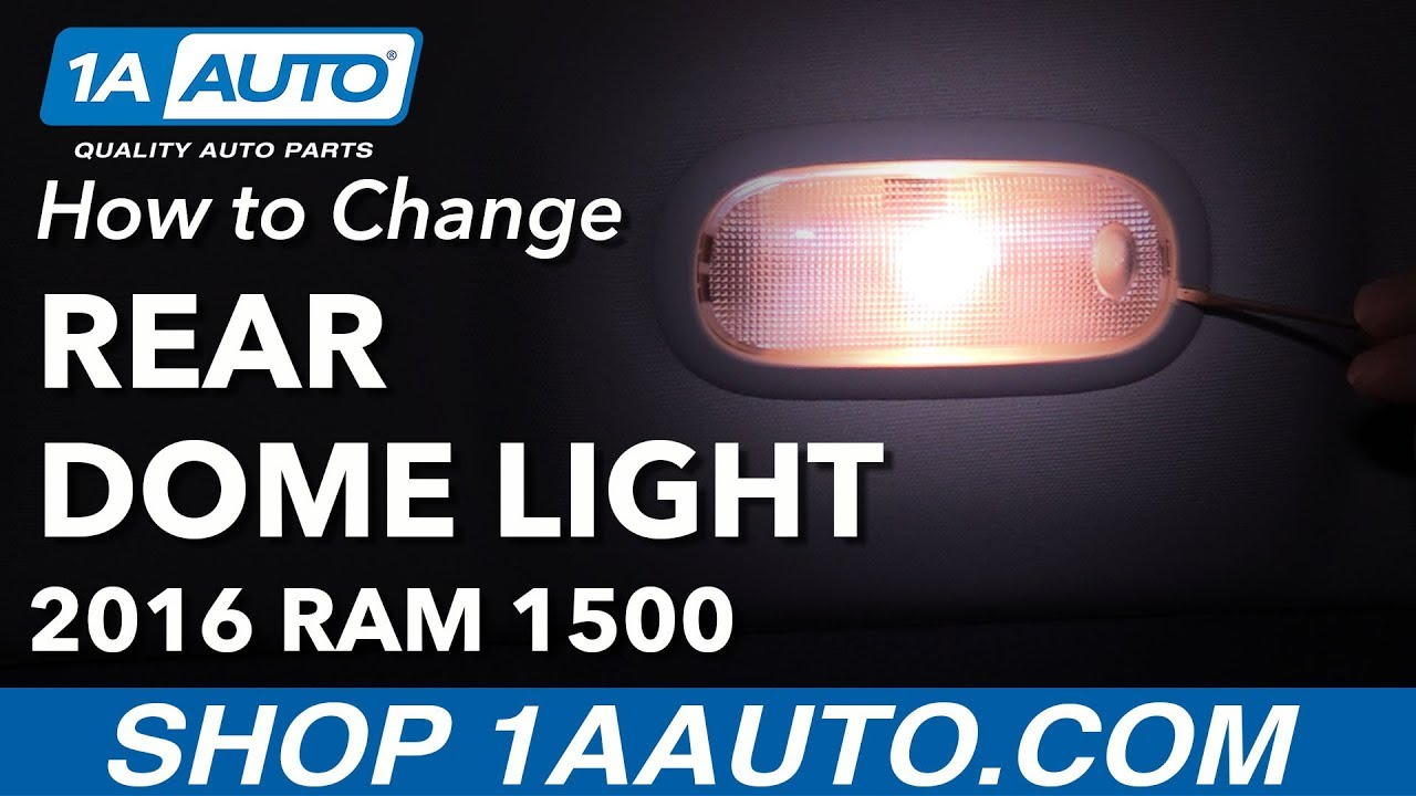 How To Change Rear Interior Dome Light Bulbs 09 18 Ram 1500 Youtube