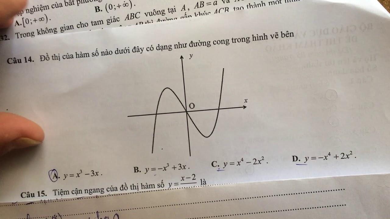 Hướng dẫn giải đề minh họa lần 2 môn toán